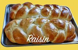Long Braid with Golden Raisins